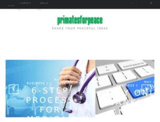 primatesforpeace.com screenshot