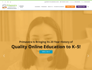 primavera-online-high-school.com screenshot