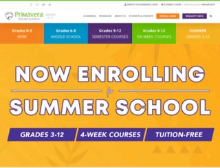 primavera-online-middle-school.com screenshot