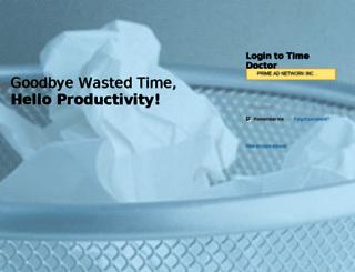 primeadnet.timedoctor.com screenshot