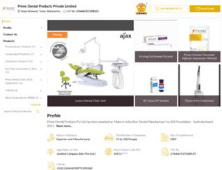 primedentalproducts.in screenshot