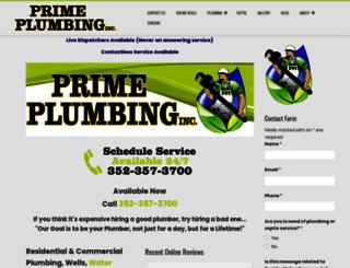 primeplumbinginc.com screenshot
