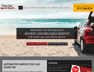 primetime-autorepair.com screenshot