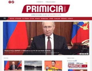 primiciadiario.com screenshot