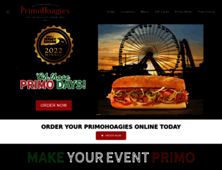 primohoagies.com screenshot