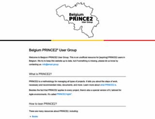 prince2-ug.be screenshot