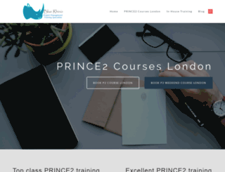 prince2trainingcourselondon.co.uk screenshot