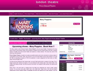 princeedward.london-theatretickets.com screenshot