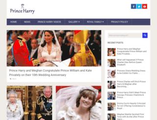 princeharry.co.uk screenshot