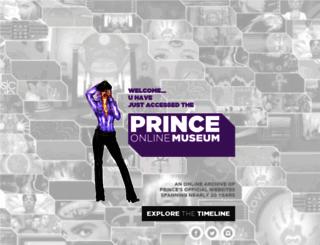 princeonlinemuseum.com screenshot