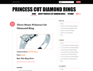 princesscutdiamondsrings.wordpress.com screenshot