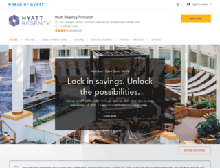 princeton.hyatt.com screenshot