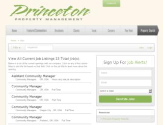 princetonproperty.applicantpro.com screenshot