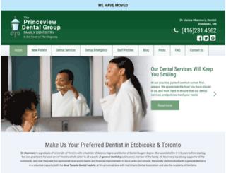 princeviewdental.com screenshot