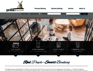 prinsbank.com screenshot