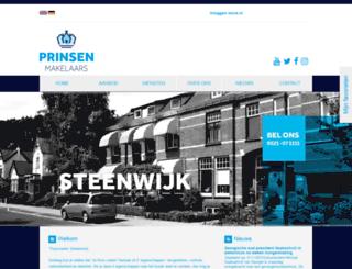 prinsenzandbergen.nl screenshot