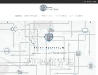 print-platinium.fr screenshot