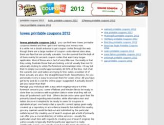 printable-coupons-2012.info screenshot