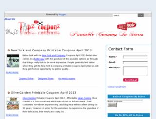printable-coupons4.blogspot.com screenshot