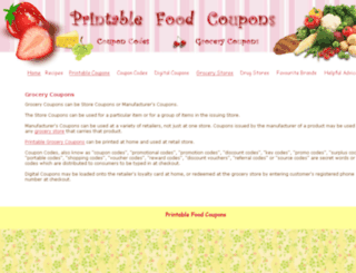 printable-food-coupons.com screenshot