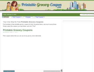 printable-grocery-coupon.com screenshot
