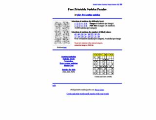 printable-sudoku-puzzles.com screenshot