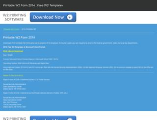 printable-w2-form-2014.printablew2form.com screenshot