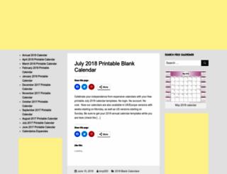 printableblankcalendar.org screenshot