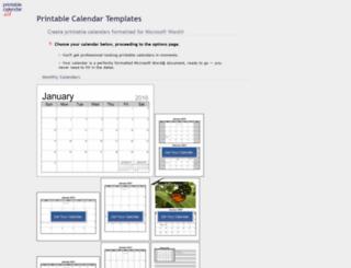printablecalendar.ca screenshot