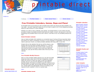 printabledirect.com screenshot