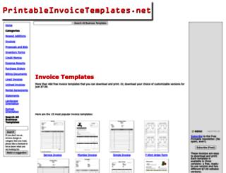 printableinvoicetemplates.net screenshot