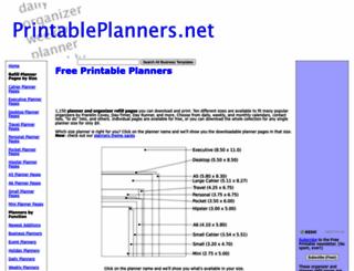 printableplanners.net screenshot