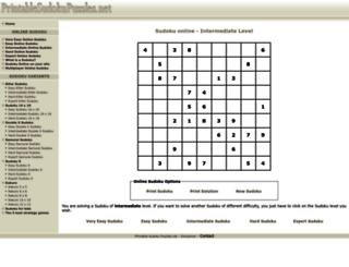 printablesudokupuzzles.net screenshot