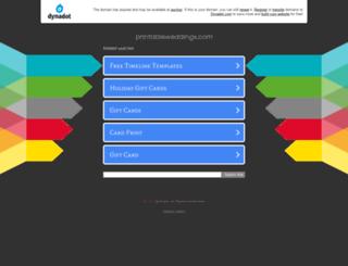 printableweddings.com screenshot