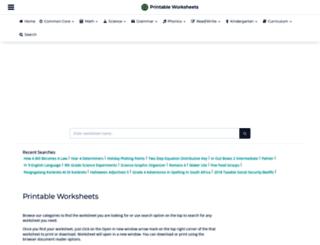 printableworksheets.rokkada.com screenshot