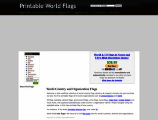printableworldflags.com screenshot