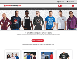 printedclothing.com screenshot