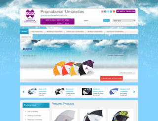 printedpromotionalumbrellas.co.uk screenshot