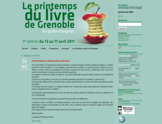 printempsdulivre2011.bm-grenoble.fr screenshot