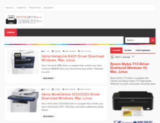 printerdrivers.co screenshot