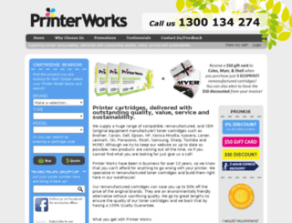 printerworkz.com.au screenshot