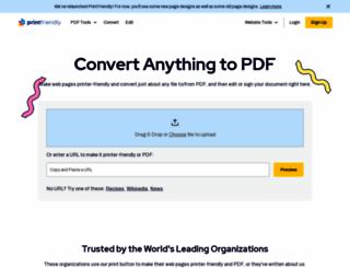 printfriendly.com screenshot