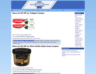 printingfreecoupons.com screenshot