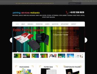 printingservicesmalaysia.com screenshot