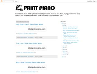 printpiano.blogspot.com screenshot
