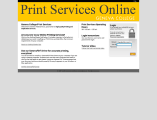 printservices.geneva.edu screenshot