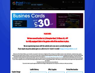printshopstalbans.co.uk screenshot
