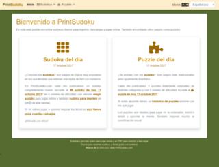 printsudoku.com screenshot