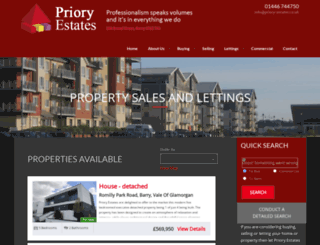 priory-estates.co.uk screenshot