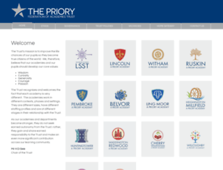 prioryacademies.co.uk screenshot